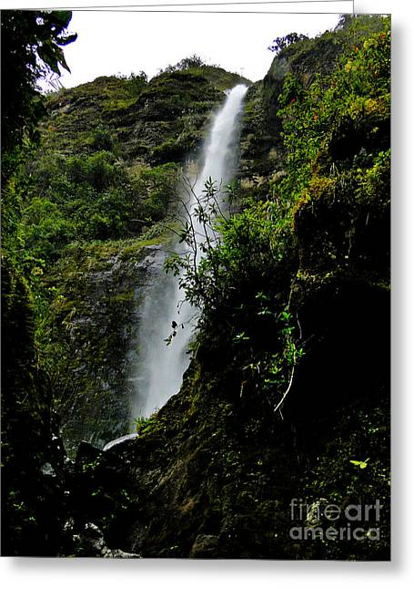 El Chorro Waterfall Of Giron IIi Greeting Card by Al Bourassa