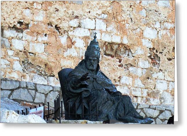 El Cid The Movie Remembered At Peniscola Castle Greeting Card by John Shiron