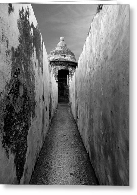 El Morro In Black And White Greeting Card