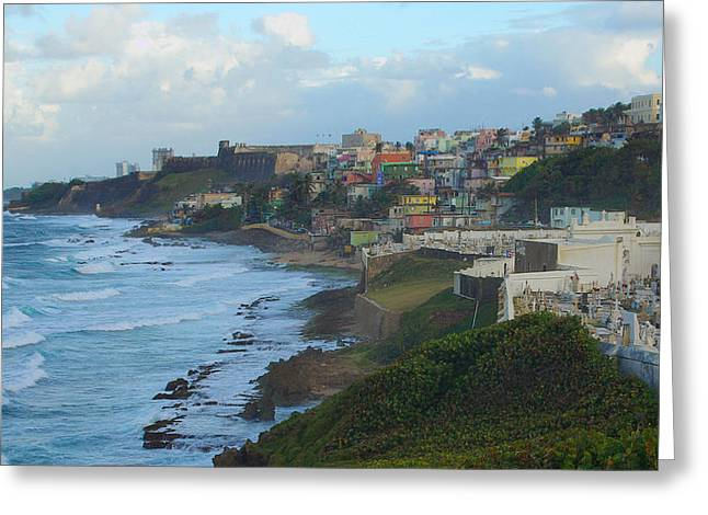 El Morrow With San Juan Seashore Greeting Card