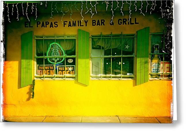 El Papas Family Bar And Grill Greeting Card