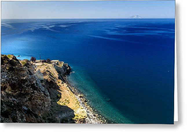 Elba Island - The Mine On The Beach And The Faraway Island - Ph Enrico Pelos Greeting Card