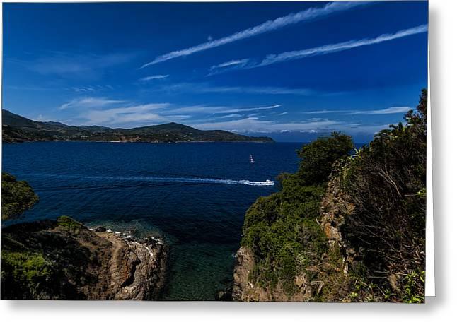 Elba Island - Blue And Green 1 - Blu E Verde 1 - Ph Enrico Pelos Greeting Card