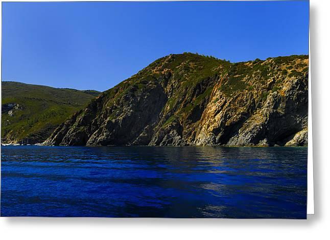 Elba Island - Blue And Green 2 - Blu E Verde 2 - Ph Enrico Pelos Greeting Card