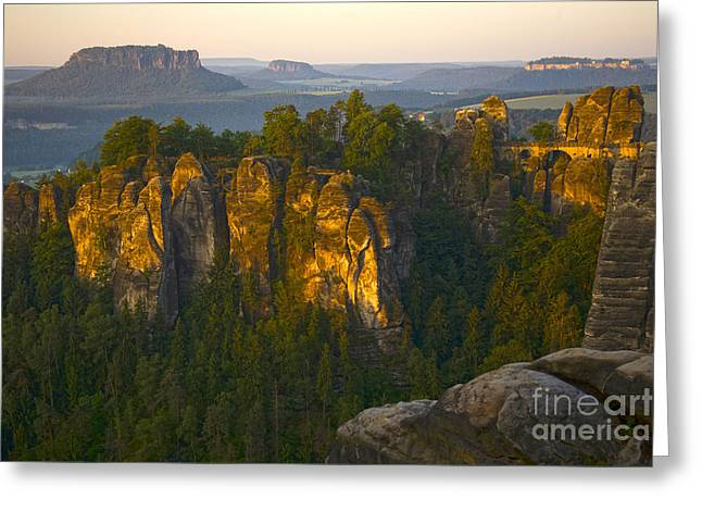 Elbe Sandstone Highlands Greeting Card by Heiko Koehrer-Wagner