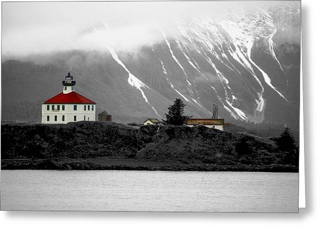 Eldred Rock Alaska Greeting Card by Carrie OBrien Sibley