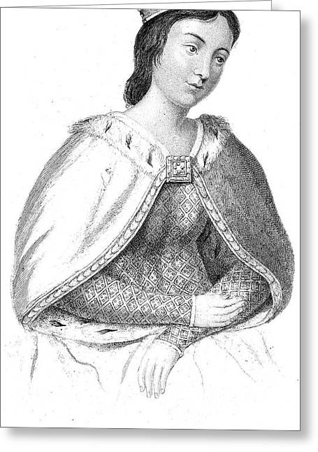 Eleanor Of Provence Greeting Card by Granger