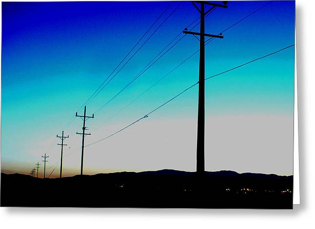 Electric Blue Greeting Card by Chad Rice