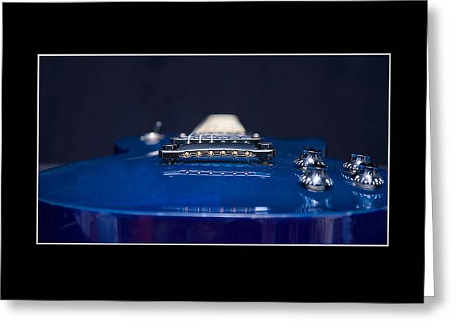 Electric Blue Guitar Greeting Card by Trudy Wilkerson