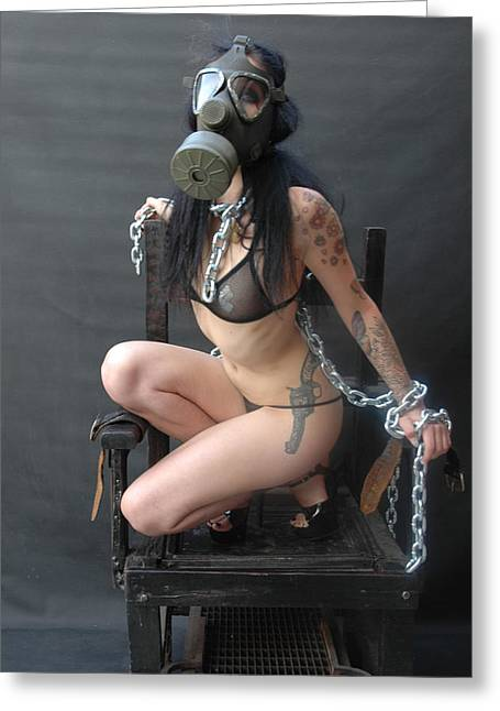 Electric Chair - Bound N Chained Greeting Card