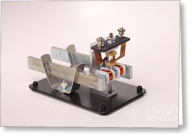 Electric Motor Greeting Card by Ted Kinsman