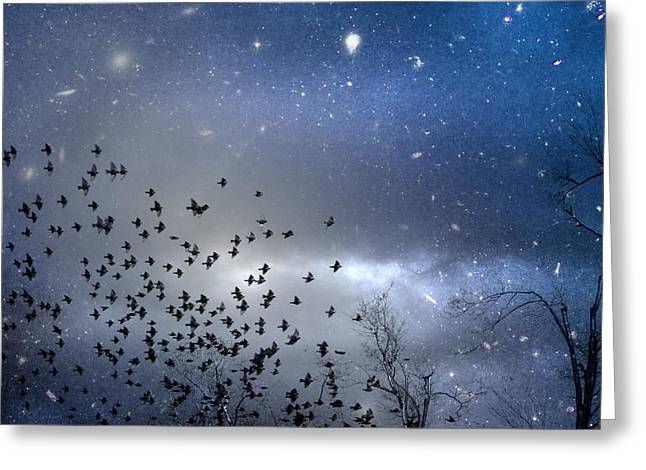 The Night Was Electrically Charged Greeting Card by Gothicrow Images
