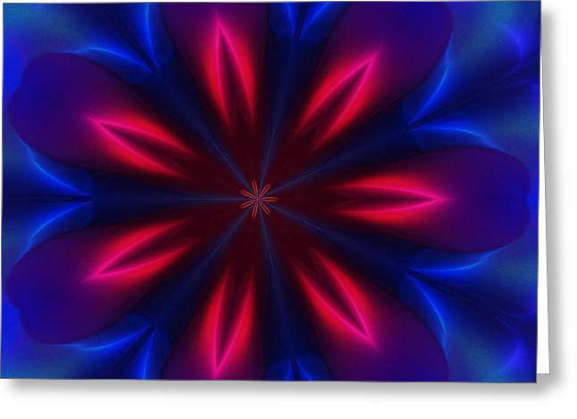 Electric Passion Greeting Card by David Lane