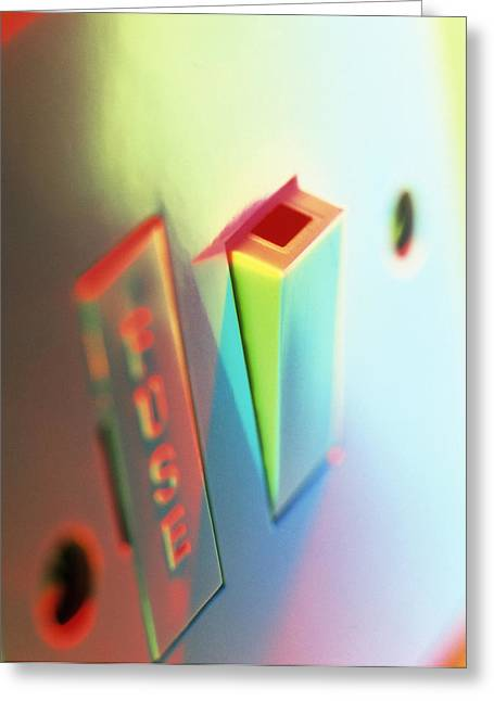 Electric Switch Greeting Card by Tek Image