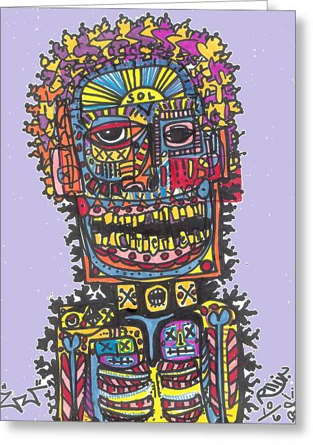 Electric Vibe Greeting Card