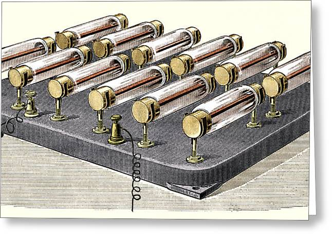 Electrical Heater, 1900 Greeting Card by Sheila Terry