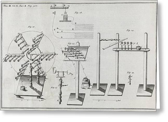 Electrical Machines, 18th Century Greeting Card by Middle Temple Library