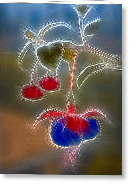 Electrifying Fuchsia Greeting Card by Susan Candelario