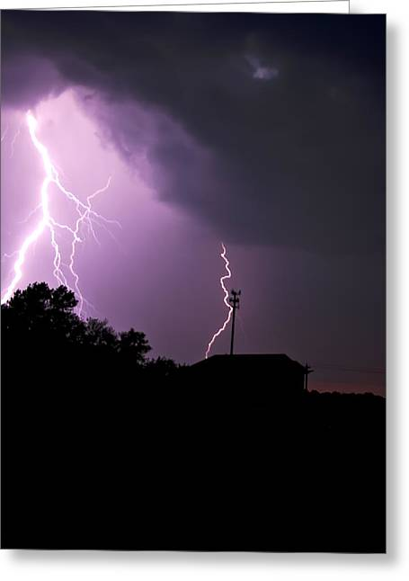 Electrifying Sky  Greeting Card
