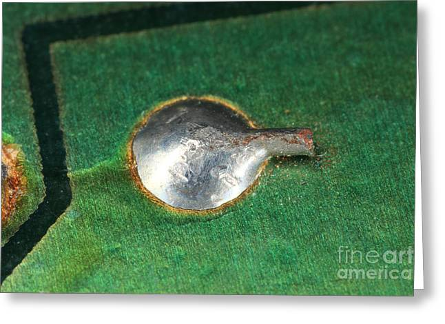 Electronics Board Solder Joint Greeting Card by Ted Kinsman