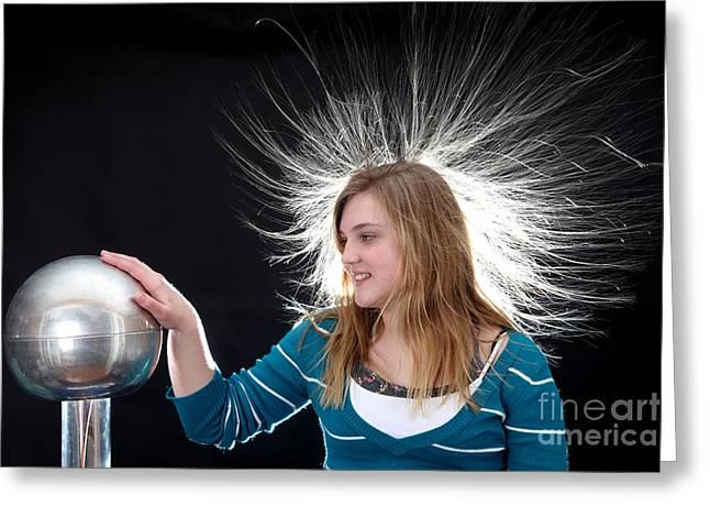 Electrostatic Generator, 4 Of 8 Greeting Card by Ted Kinsman