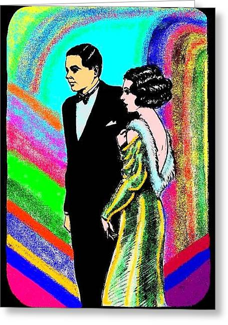 Elegant Couple Color Greeting Card by Mel Thompson