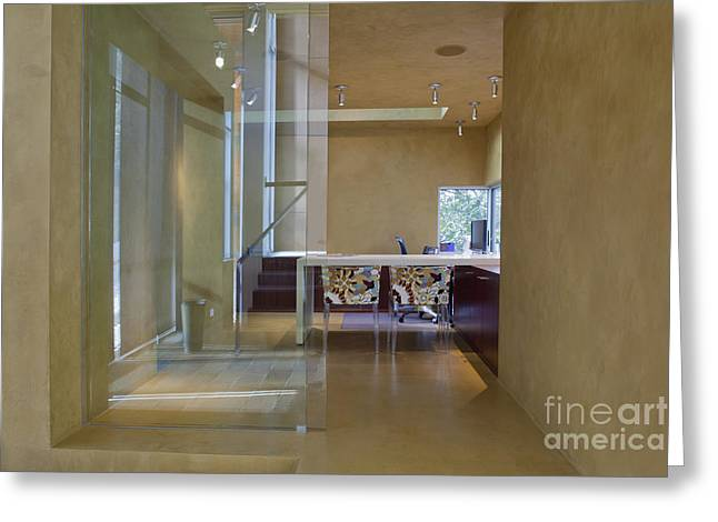 Elegant Hallway To A Home Office Greeting Card