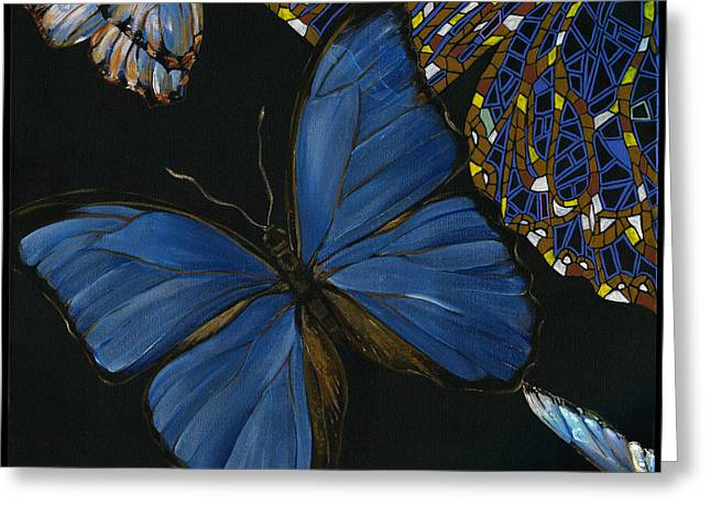 Elena Yakubovich - Butterfly 2x2 Lower Left Corner Greeting Card by Elena Yakubovich