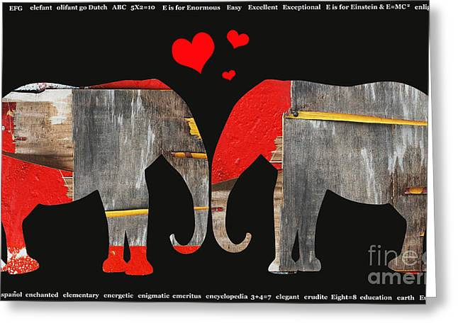 Elephant Love Kids Licensing Art Greeting Card by Anahi DeCanio