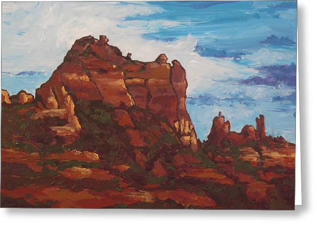 Elephant Rock Greeting Card by Sandy Tracey