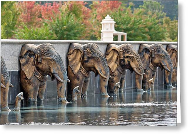 Elephants Of The Mandir Greeting Card