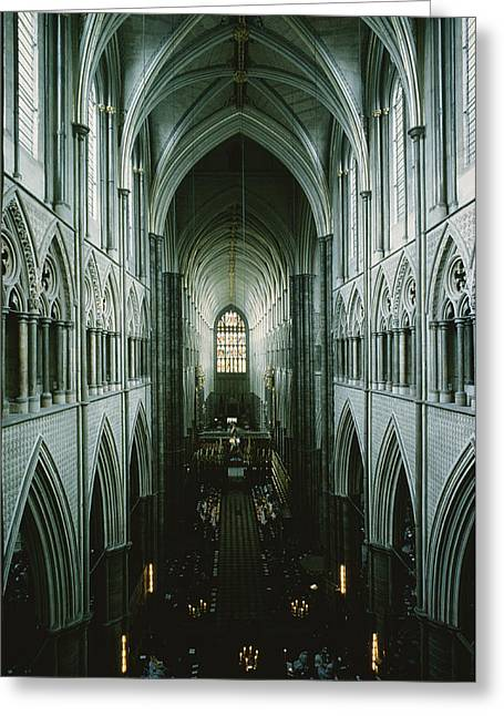 Elevated View Of The Nave Greeting Card by James P. Blair
