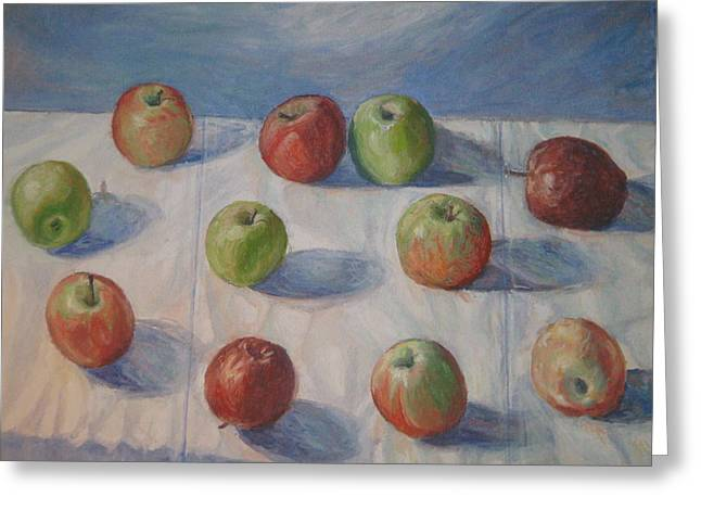 Eleven Apples Greeting Card
