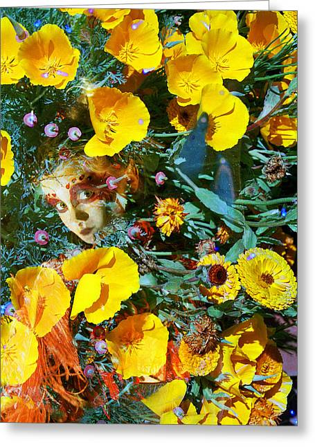 Elfin Child Of Poppies Greeting Card by Cyoakha Grace