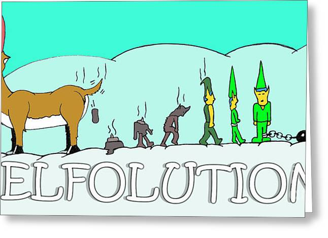 Elfolution Greeting Card by Jack Norton