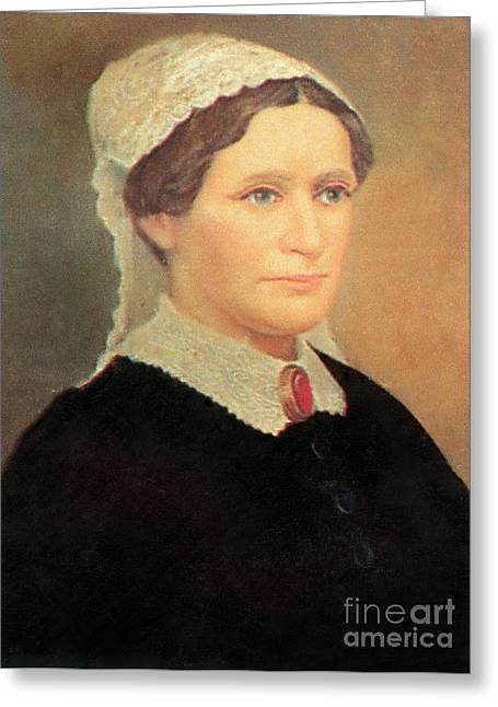 Eliza Johnson Greeting Card by Photo Researchers