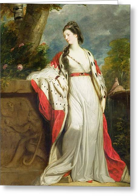 Elizabeth Gunning - Duchess Of Hamilton And Duchess Of Argyll Greeting Card by Sir Joshua Reynolds