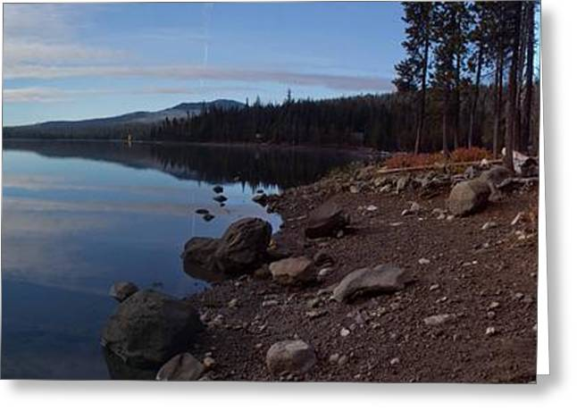 Elk Lake Panorama Greeting Card by Twenty Two North Photography
