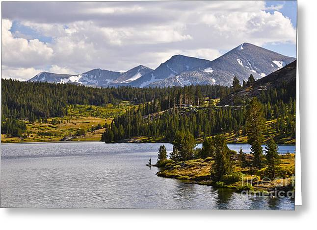 Ellery Lake Greeting Card by Camille Lyver