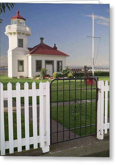 Elliot Point Lighthouse  Greeting Card by Patrick M Lynch