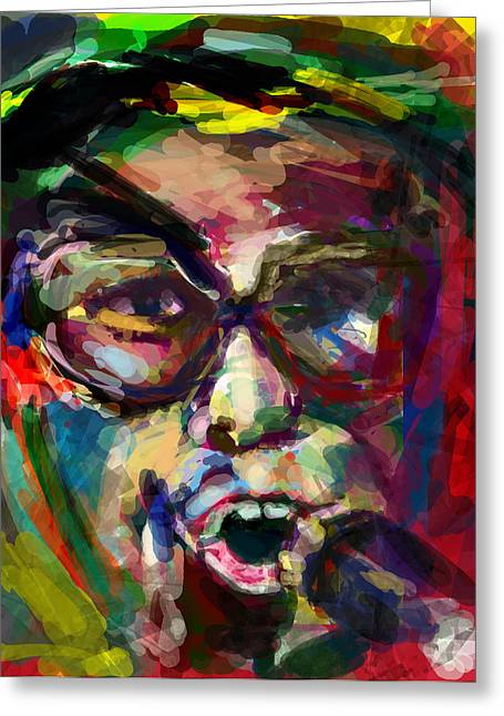 Elton In 20 Greeting Card by James Thomas