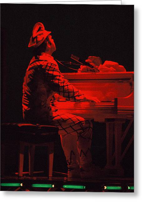 Elton In The Red Greeting Card by Scott Smith