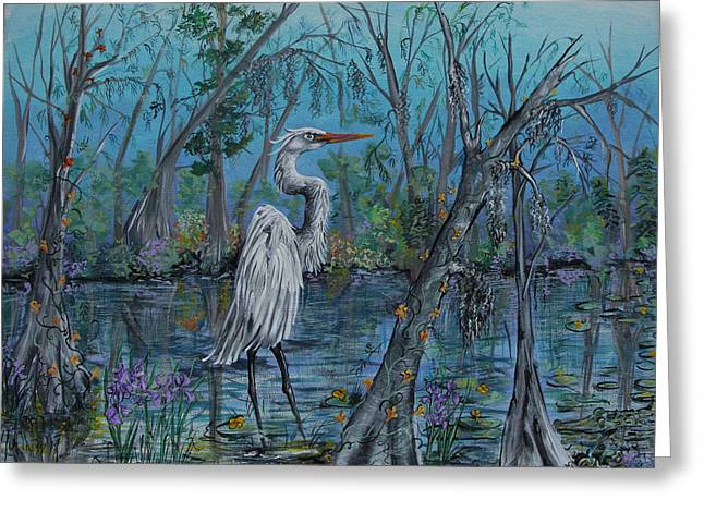 Elusive Swamp Greeting Card