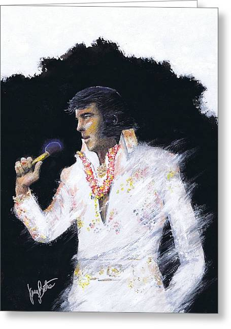 Elvis In Concert Greeting Card