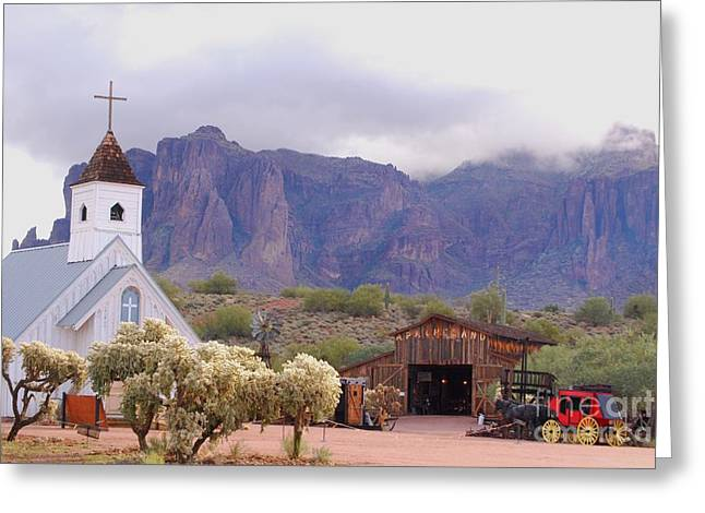 Greeting Card featuring the photograph Elvis Memorial Chapel by Tam Ryan