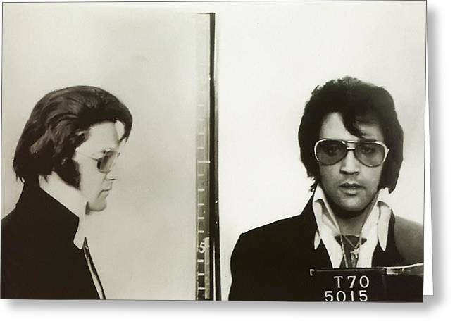 Elvis Mugshot 1970 Greeting Card