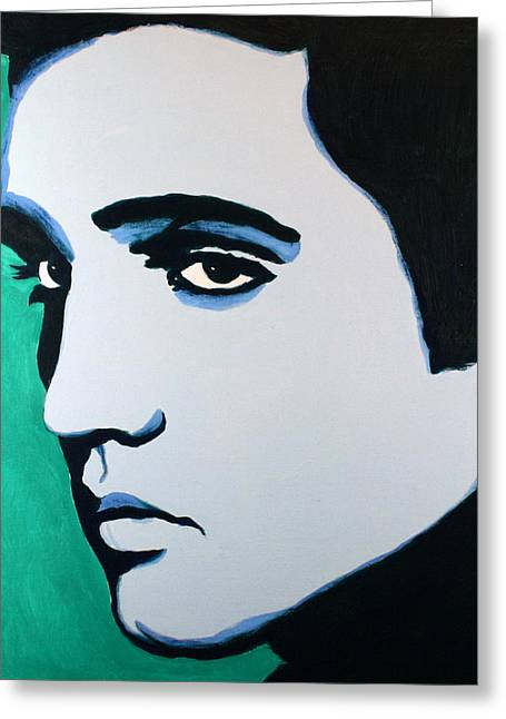 Elvis Presley - Blue Green Greeting Card