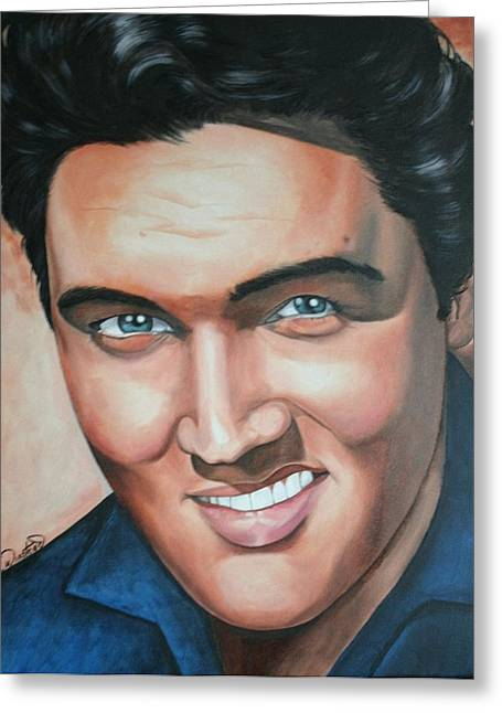 Elvis Presley Greeting Card by Timothe Winstead