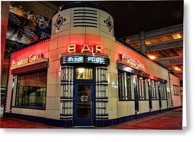 Elwood Bar And Grill Detroit Michigan Greeting Card by Gordon Dean II