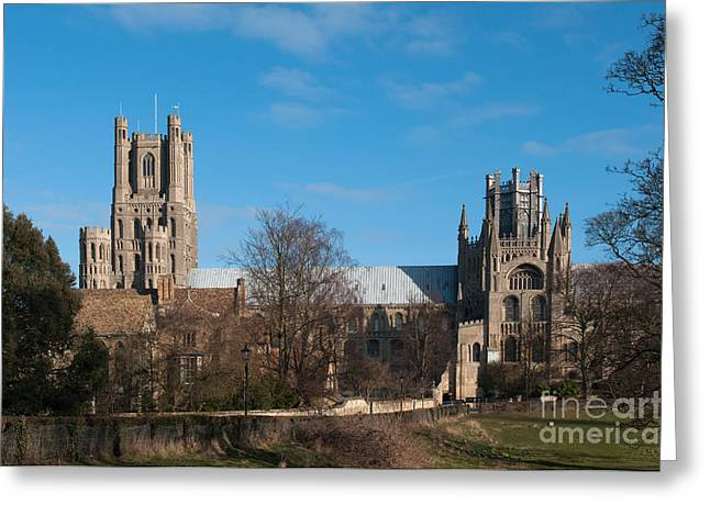 Ely Cathedral In City Of Ely Greeting Card by Andrew  Michael